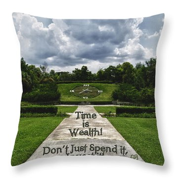 Time Is Wealth Throw Pillow by Barbara Middleton