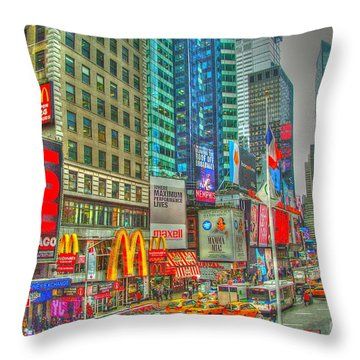 Times Square One Throw Pillow by Alberta Brown Buller