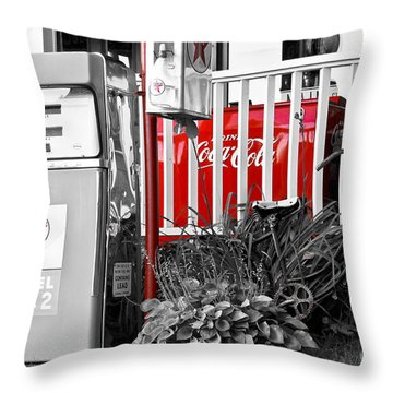 Tinted Fuel For Life Throw Pillow by Brenda Giasson