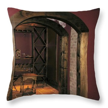 To The Wine Cellar Throw Pillow by Renee Trenholm