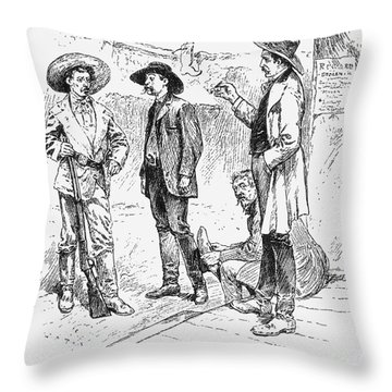 Tombstone Sheriff, 1883 Throw Pillow by Granger