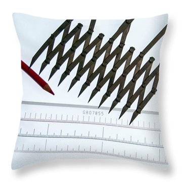Tools Of The Trade Throw Pillow by Guy Whiteley