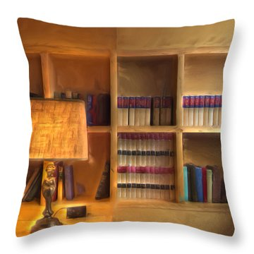 Top Pot's Library Throw Pillow by Heidi Smith