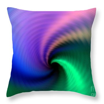 Towards The Abyss Throw Pillow by Yali Shi