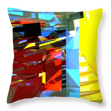 Tower Series 32 Golden Stairway Throw Pillow by Russell Kightley