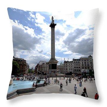 Trafalgar Square Throw Pillow by Pravine Chester
