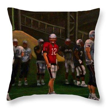 Training Camp Throw Pillow by Sarah Farren