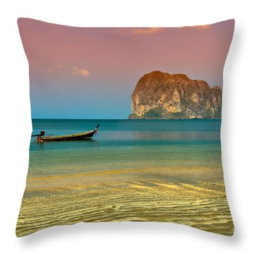 Trang Longboat Throw Pillow by Adrian Evans