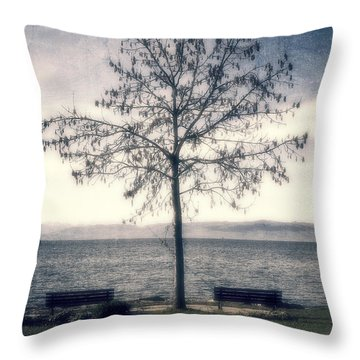 tree at lake Constance Throw Pillow by Joana Kruse