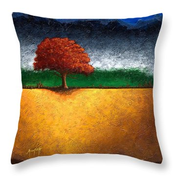 Tree Of Life Throw Pillow by Mauro Celotti