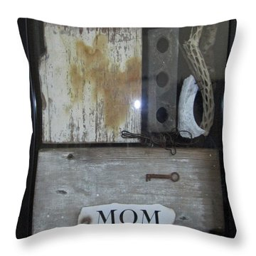 Tribute To Mom Throw Pillow by Snake Jagger