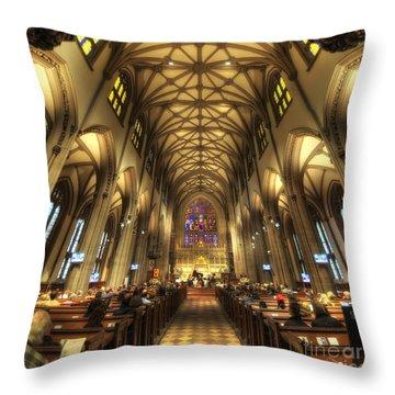 Trinity Church Nyc Throw Pillow by Yhun Suarez