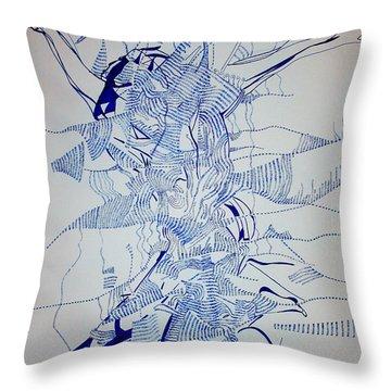 Triple Jump Throw Pillow by Gloria Ssali