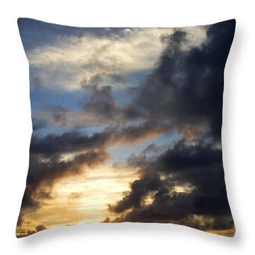 Tropical Sunset Throw Pillow by Fabrizio Troiani