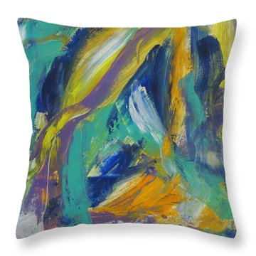 Tropicana 2 Throw Pillow by Anita Burgermeister