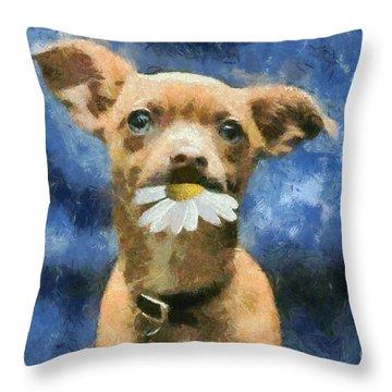 Tuffy Throw Pillow by Aimelle