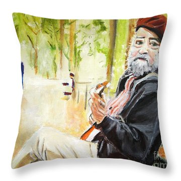 Tuning In Throw Pillow by Judy Kay