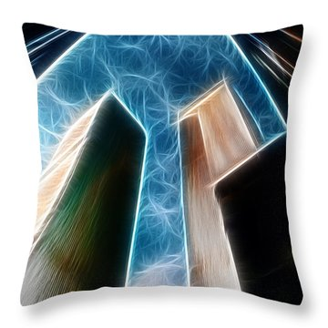 Twin Towers Throw Pillow by Paul Ward