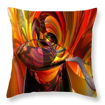 Twisted Jester Fx  Throw Pillow by G Adam Orosco