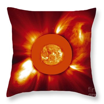 Two Coronal Mass Ejections Throw Pillow by Solar & Heliospheric Observatory consortium (ESA & NASA)