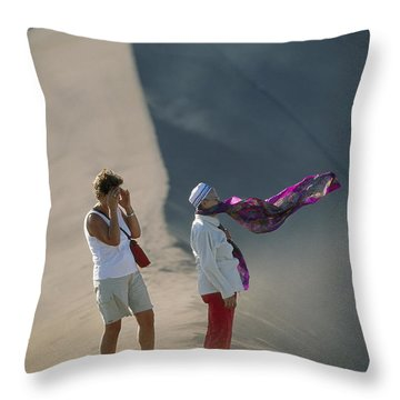 Two Tourist Are Transfixed Throw Pillow by Joel Sartore