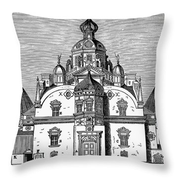 Tycho Brahes Observatory Throw Pillow by Granger
