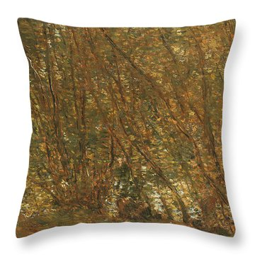 Under The Alders Throw Pillow by Childe Hassam