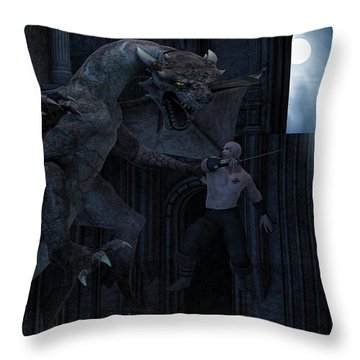 Under The Moonlight Throw Pillow by Lourry Legarde