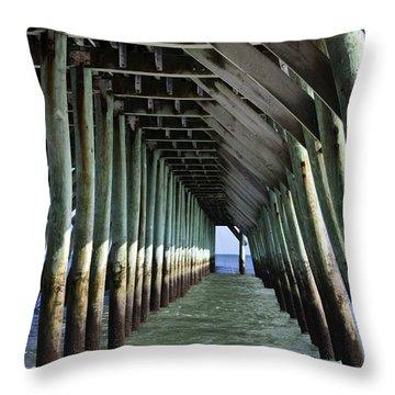 Under The Pier Throw Pillow by Teresa Mucha