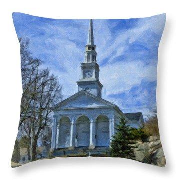 Union Baptist Church Throw Pillow by Edward Sobuta