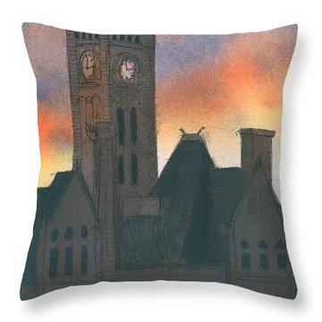 Union Station Throw Pillow by Arthur Barnes