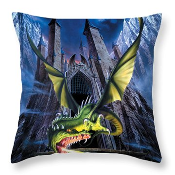 Unleashed Throw Pillow by The Dragon Chronicles