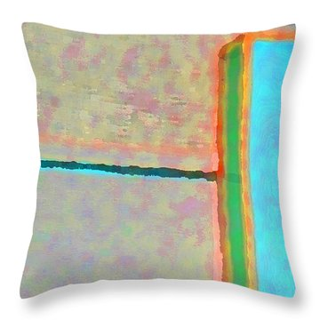 Throw Pillow featuring the digital art Up And Over by Richard Laeton