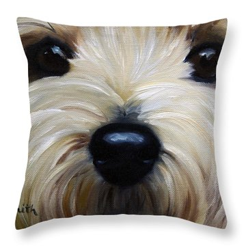 Up Close And Personal IIi Throw Pillow by Mary Sparrow