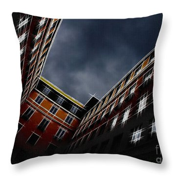 Urban Drawing Throw Pillow by Hannes Cmarits