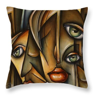 Urban Expression Throw Pillow by Michael Lang