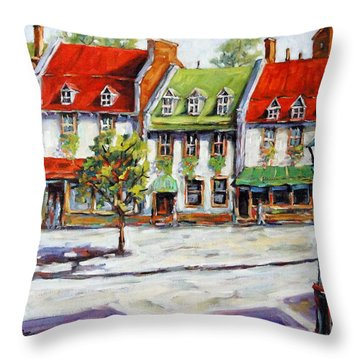 Urban Montreal Street By Prankearts Throw Pillow by Richard T Pranke