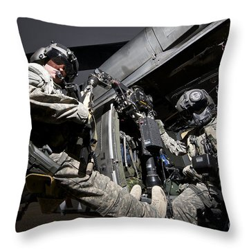 U.s. Air Force Crew Strapped Throw Pillow by Terry Moore