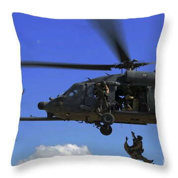 U.s. Air Force Pararescuemen Throw Pillow by Stocktrek Images