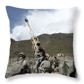 U.s. Soldiers Prepare For Their Next Throw Pillow by Stocktrek Images