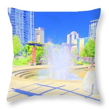 Utopian City Throw Pillow by Randall Weidner