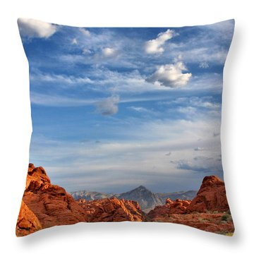 Valley Of Fire Nevada - A Must-see For Desert Lovers Throw Pillow by Christine Till