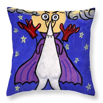 Vampire Tooth Throw Pillow by Anthony Falbo