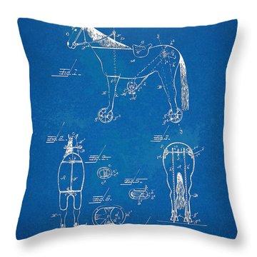 Velocipede Horse-bike Patent Artwork 1893 Throw Pillow by Nikki Marie Smith