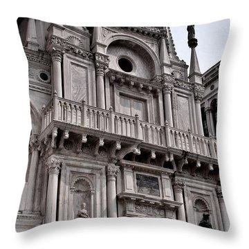 Venetian Architecture Iv Throw Pillow by Ellen Heaverlo