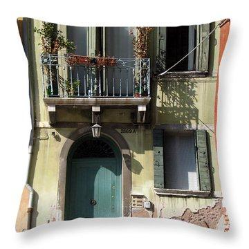 Venetian Doorway Throw Pillow by Carla Parris