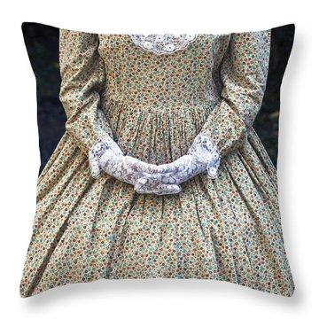 Victorian Lady Throw Pillow by Joana Kruse