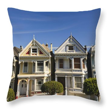 Victorian Style Homes Near Alamo Square Photograph By