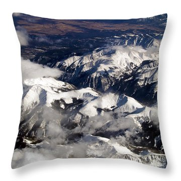 View From Above Iv Throw Pillow by Patricia Griffin Brett
