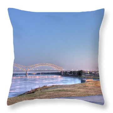 View From The Park Throw Pillow by Barry Jones